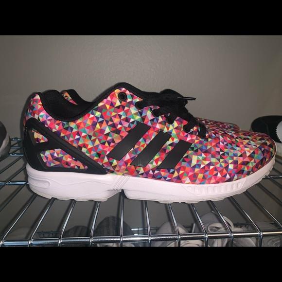 sale retailer 27867 a8990 adidas Shoes | Zx Flux Prism Multicolor Sz 12 Rainbow | Poshmark